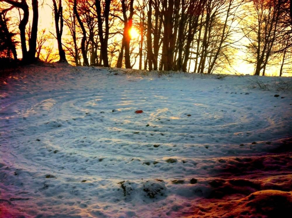Labyrinth aus Steinen